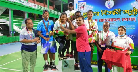 Ranjan-Prity couple clinches mixed double title in Bangabandhu 9th Bangladesh Tennis