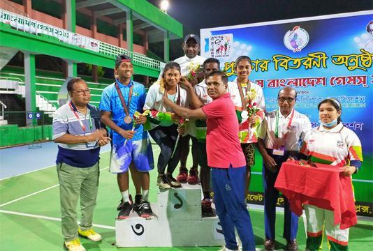 Ranjan-Prity couple clinches mixed double title in Bangabandhu 9th Bangladesh Tennis