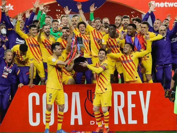 Messi scores twice as Barca beat Athletic to win Copa del Rey