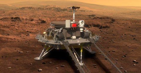 China successfully lands its rover on Mars