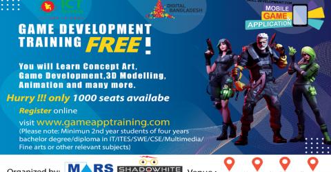 Registration in game development free course begins