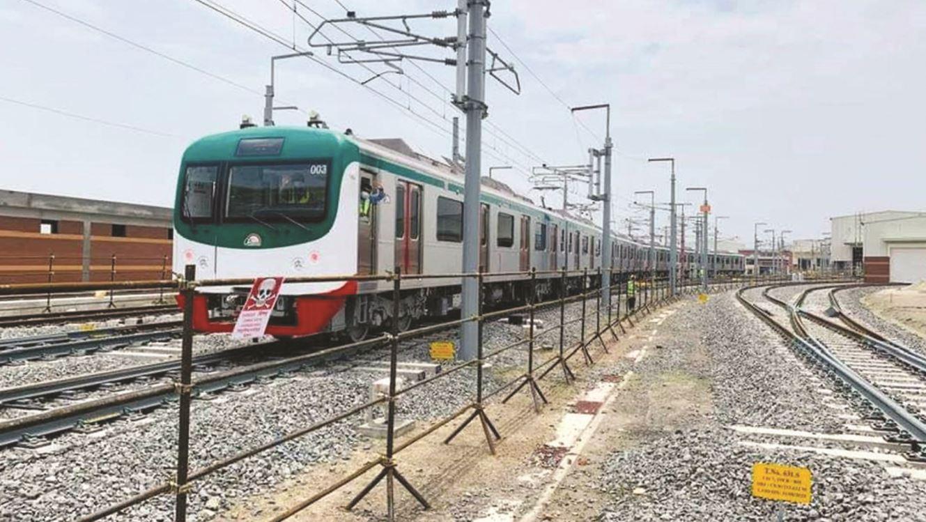 Metro rail trial begins at Uttara depot