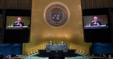 UN General Assembly holds informal dialogue with candidate for next secretary-general