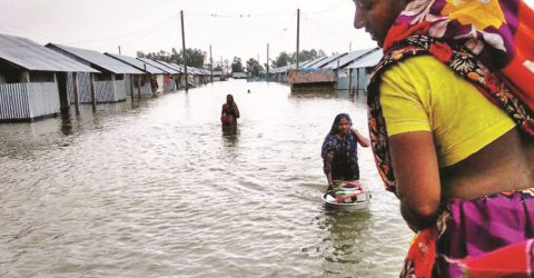 Yaas inundates the coastal areas with water and sufferings