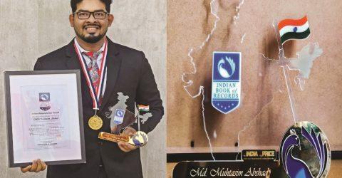 Muhtasim receives Indian  Book of Records award