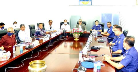 BGMEA, Industrial Police discuss overall situation in RMG sector