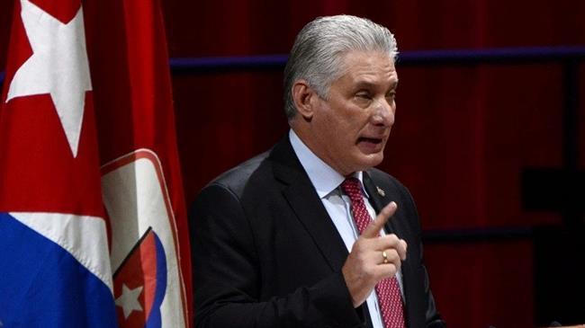 Cuba president denounces unrest as a 'lie', calls protest images 'false'