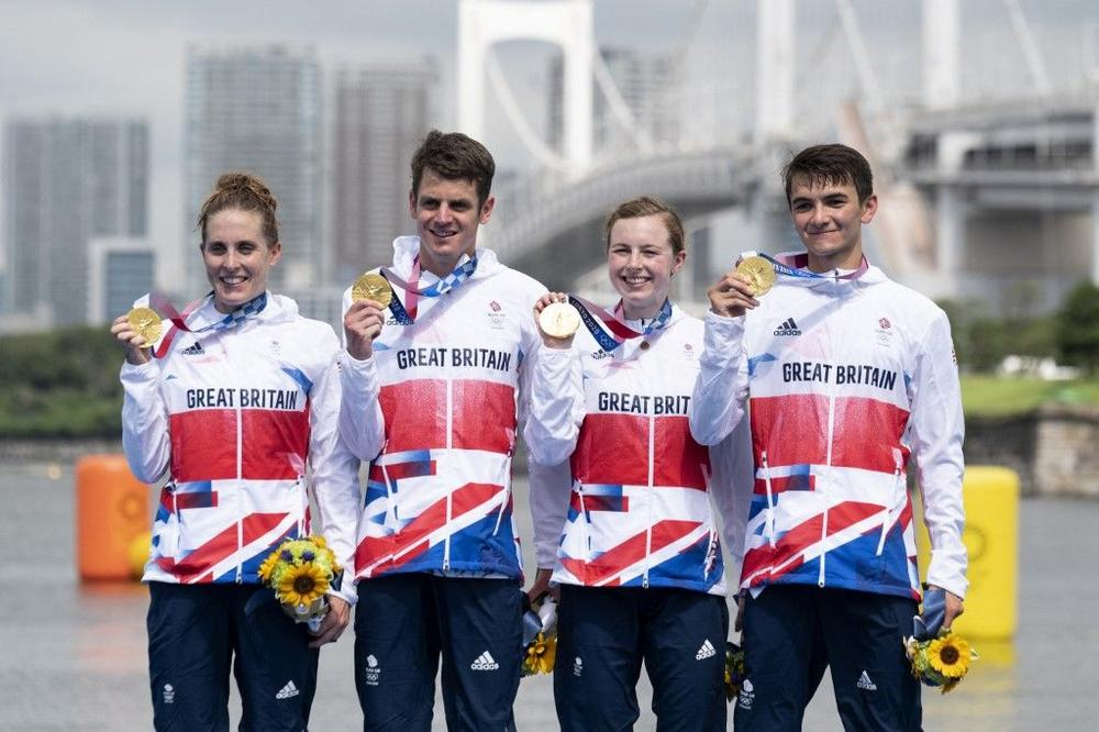Britain take Olympic mixed triathlon gold