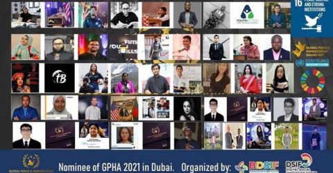 Global Peace Award 2021: 48 people including 20 Bangladeshis nominated