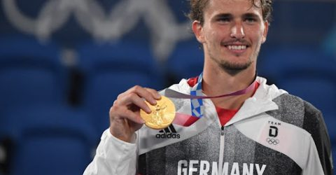 Zverev routs Khachanov to win Olympic tennis gold