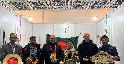 Bangladeshi jute and handicraft products exhibit in China