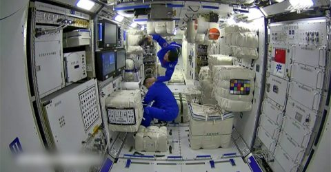 Shenzhou-13 astronauts enter space station core module